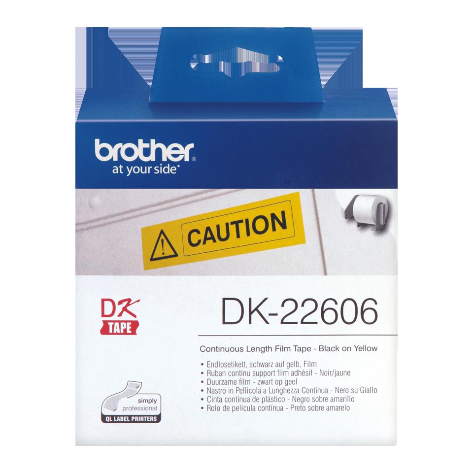 ETIQUETAS BROTHER DK-22606 - PELICULA CONTINUA AMARELA 62mmX15,24mt