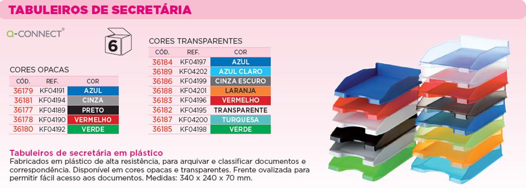 TABULEIROS PLAST. CORES TRANSLUCIDAS