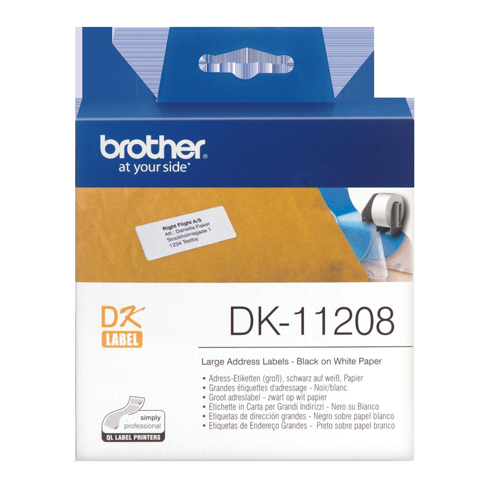 ETIQUETAS BROTHER DK-11208 - 38x90  400uni