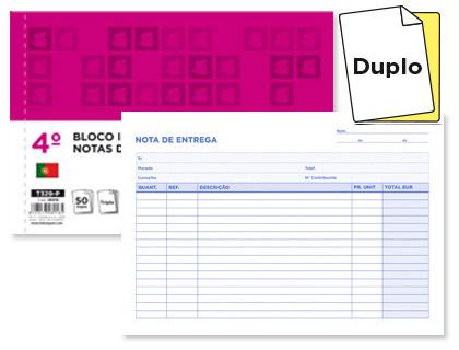 BLOCOS NOTA ENTREGA 140X210 ORIG.+COPIA 28917 REF.229P Pack c/5