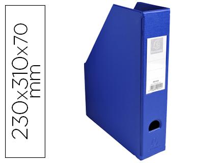 CLASSIF.PLAST.EXACOMPTA 4010 PVC - 230X70X310 AZUL 63286