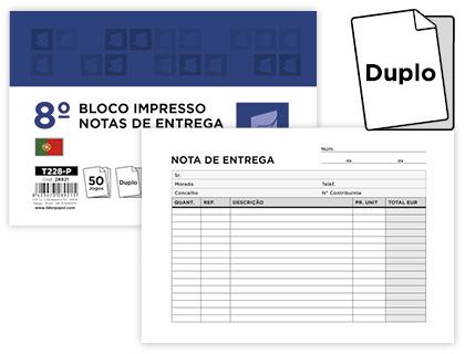 BLOCOS NOTA DE ENTREGA 105X150 ORIGINAL+COPIA 50 JOGOS 28921 - 228-P Pack c/10