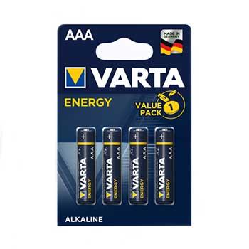 Pilhas Alcalinas Varta LR3 AAA 1.5v - Pack 4