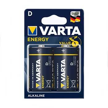 Pilhas Alcalinas Varta LR20 - 1.5V (D) - Pack 2