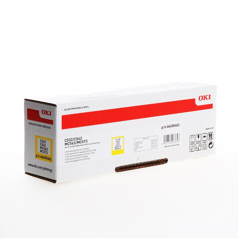 TONER OKI 46490401 - C532/C542/MC573 AMARELO 1500pg