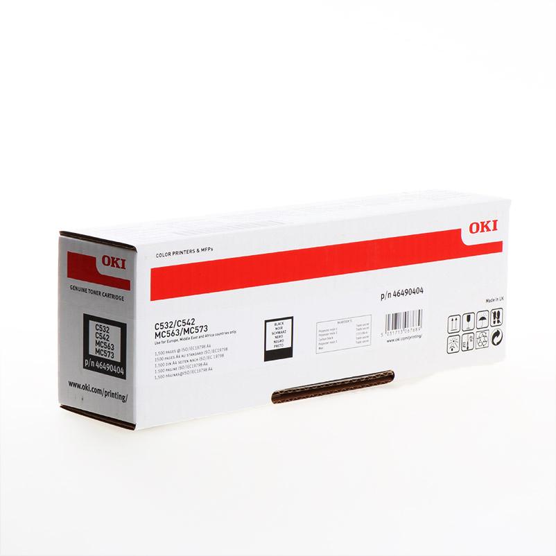 TONER OKI 46490404 - C532/C542/MC573 PRETO 1500pg