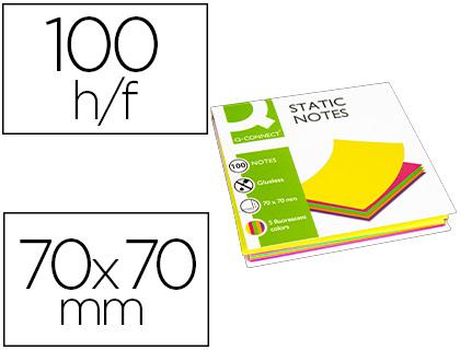 BLOCOS NOTAS ELETROSTATICAS Q-CONNECT KF14523 - 70X70mm 5 CORES 100FL 155147