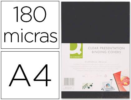 ACETATOS CAPAS ENCADERNAR PVC KF26808 PRETO A4 63461 180mic C/100