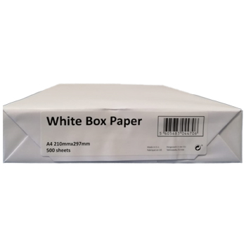 PAPEL A4 ECONOMICO WHITE BOX PAPER Caixa 5x500fl