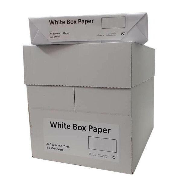 PAPEL A4 ECONOMICO WHITE BOX PAPER - 6 Caixas 5x500fl