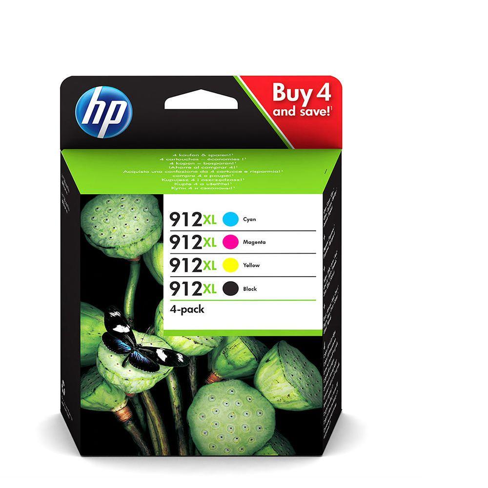 TINTEIROS HP 3YP34A - PACK 4 CORES 912XL
